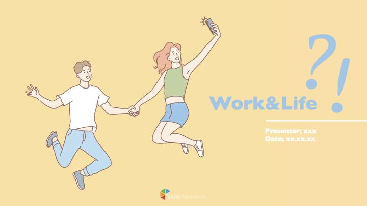 일과 삶 테마 키노트 디자인_01