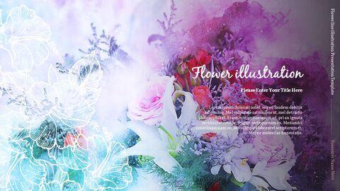 꽃 라인 일러스트 실행 사업계획 PPT_08