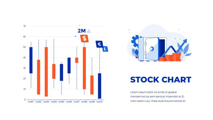 통계 차트 PPT 데크 디자인_01