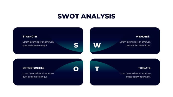 SWOT 분석 파워포인트 슬라이드_01