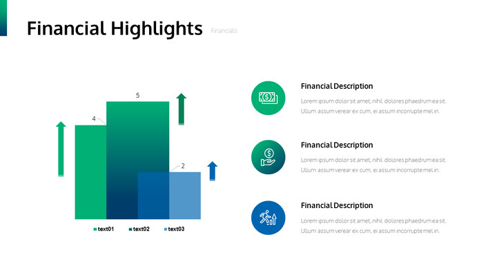 Financial Highlights PPT Slide Deck_01