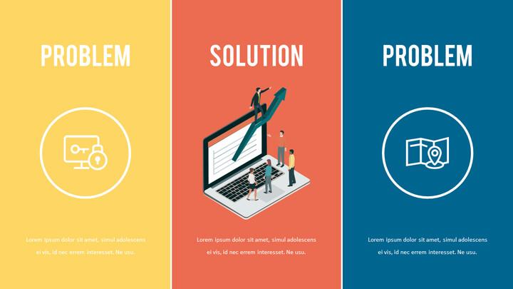 문제 및 해결책 슬라이드 데크 템플릿_01