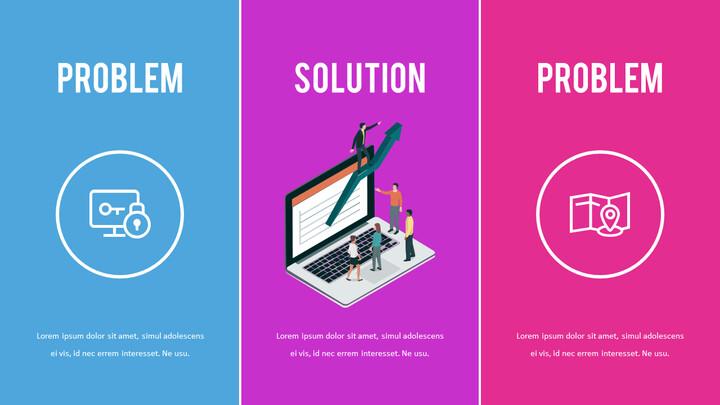 문제 및 해결책 슬라이드 데크 템플릿_02