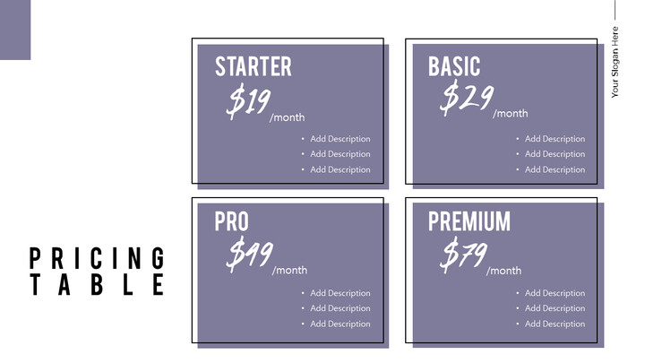 Pricing Table Simple Deck_01