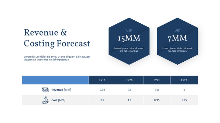 Revenue & Costing forecast Slide Layout_01