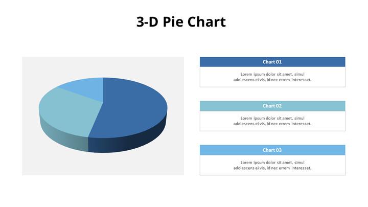 설명이 포함 된 3D 원형 차트_01
