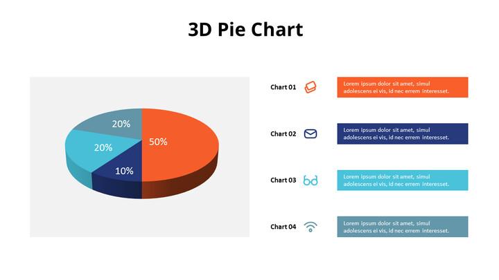 목록이있는 3D 파이 차트_01