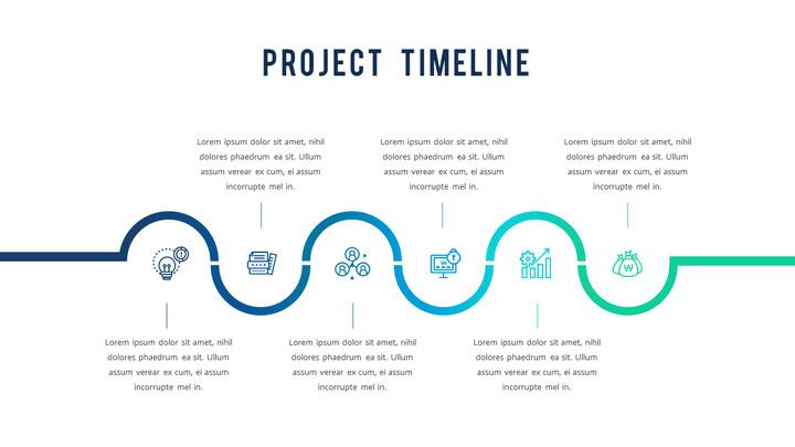 프로젝트 타임 라인 PPT 레이아웃_01