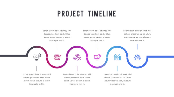 프로젝트 타임 라인 PPT 레이아웃_02