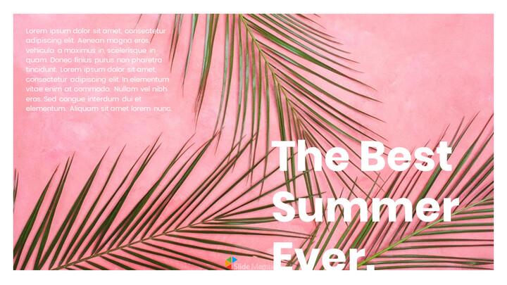 여름 프레젠테이션을 위한 구글슬라이드 템플릿_01