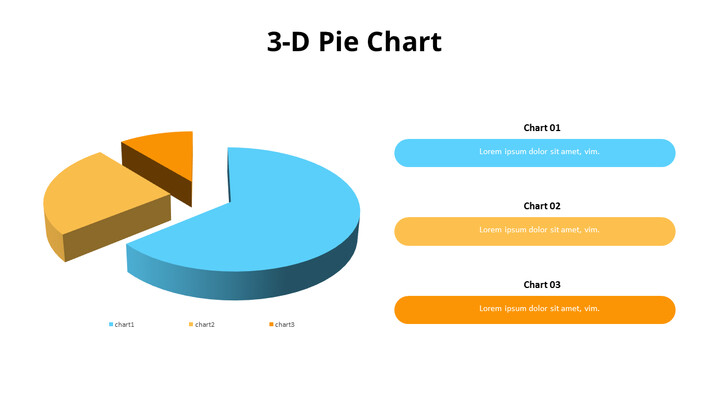 Exploded 3D Pie Chart and Text Boxes_01