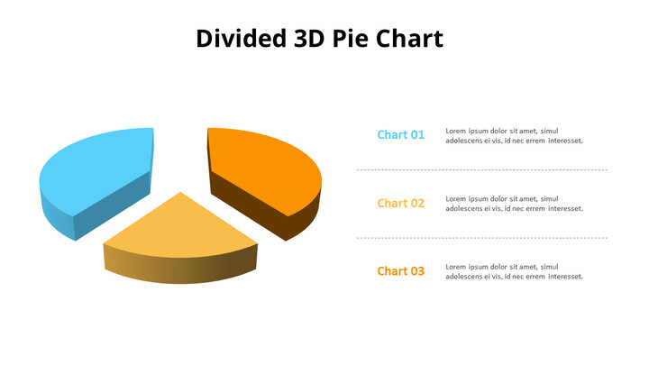 Exploded 3D Pie Chart and Text Boxes_02
