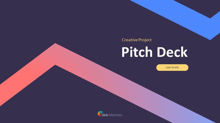 크리에이티브 프로젝트 피치덱 심플한 Google 슬라이드 템플릿_01