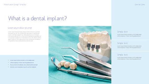 치과 진료소 심플한 파워포인트 템플릿_16