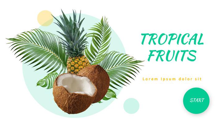 Tropical Fruits Easy Google Slides_01