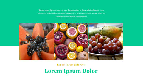 열대 과일 테마 PT 템플릿_25