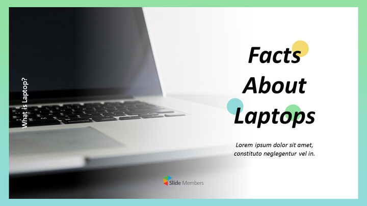 Facts about Laptop Business Presentation PPT_01
