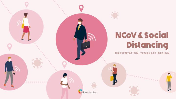 Post-Coronavirus World -  Social Distancing Simple PowerPoint Template Design_01