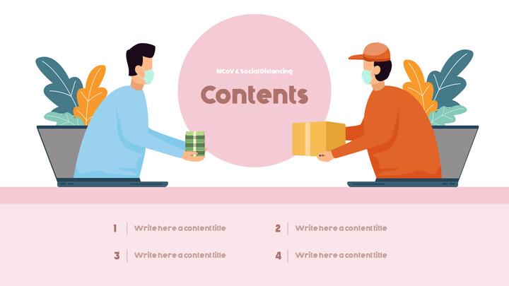 Post-Coronavirus World -  Social Distancing Simple PowerPoint Template Design_02