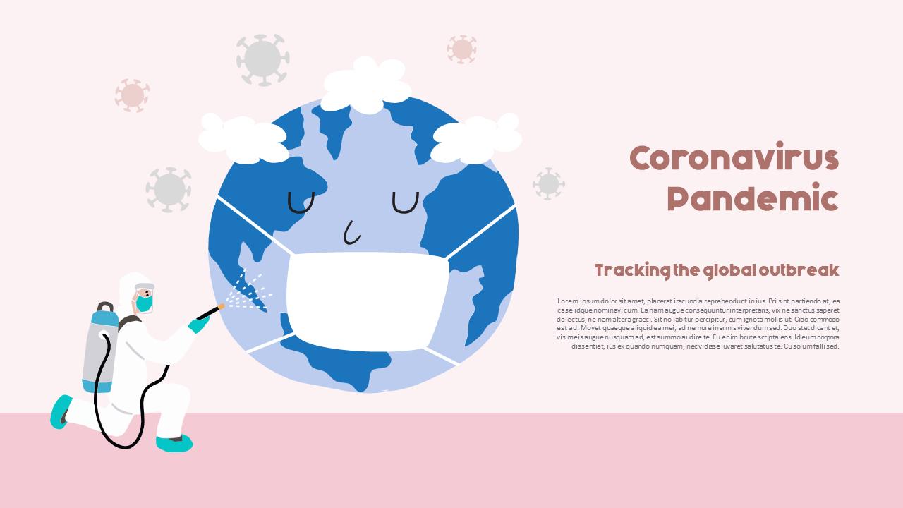 Post Coronavirus World Social Distancing Simple Powerpoint Template Design