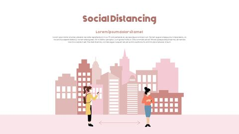 Post-Coronavirus World -  Social Distancing Simple PowerPoint Template Design_07