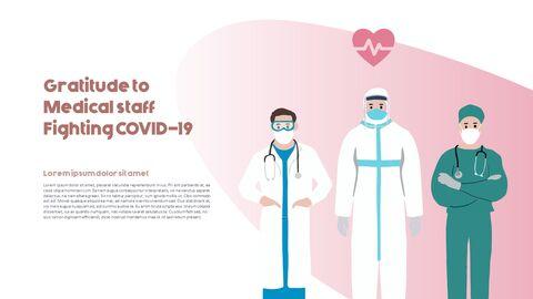 Post-Coronavirus World -  Social Distancing Simple PowerPoint Template Design_21