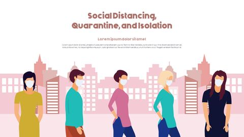 Post-Coronavirus World -  Social Distancing Simple PowerPoint Template Design_24