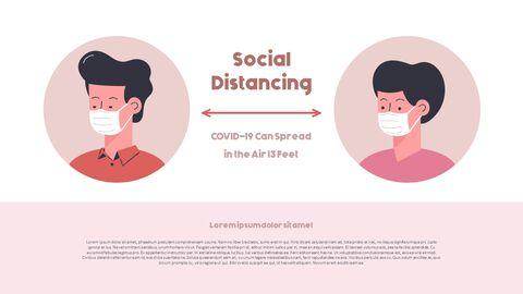 Post-Coronavirus World -  Social Distancing Simple PowerPoint Template Design_25