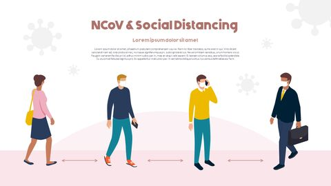 Post-Coronavirus World -  Social Distancing Simple PowerPoint Template Design_28
