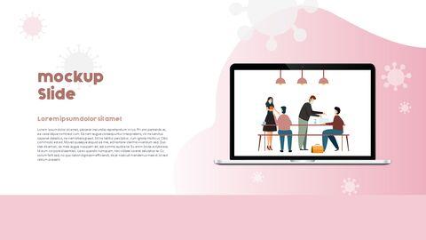 Post-Coronavirus World -  Social Distancing Simple PowerPoint Template Design_39