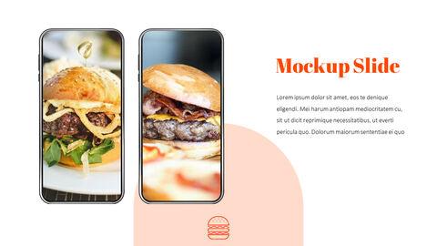 햄버거 창의적인 파워포인트 프레젠테이션_39