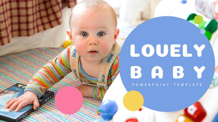 Lovely Baby Template Design_01