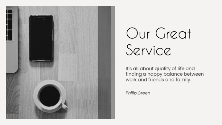 Our Great Service page_01
