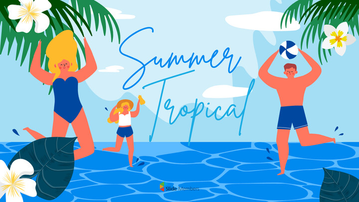 Summer Illustration Business Presentation PPT_01