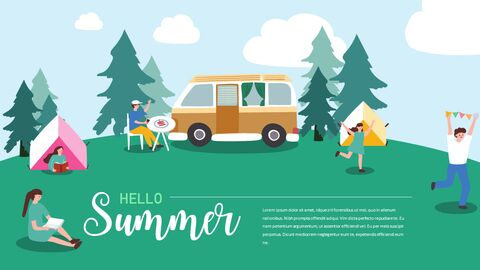 Summer Illustration Business Presentation PPT_02