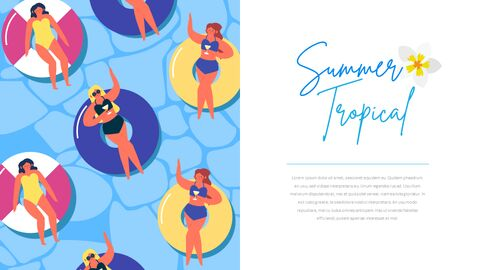 Summer Illustration Business Presentation PPT_03