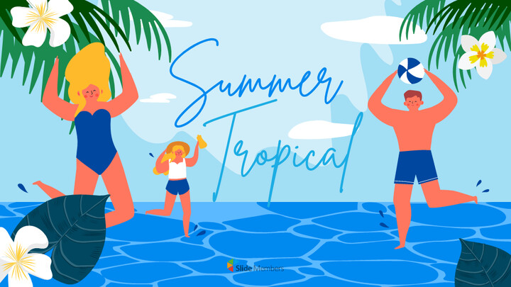 Summer Illustration Presentation Google Slides Templates_01