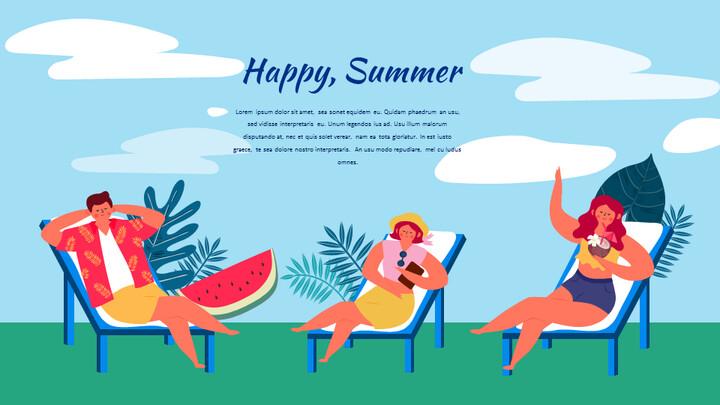 Summer Illustration Presentation Google Slides Templates_02