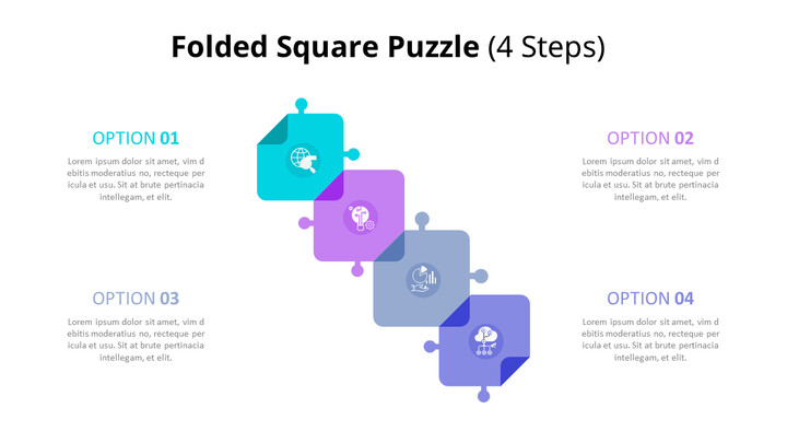 Connected Puzzle List Diagram Animated PowerPoint Templates_01