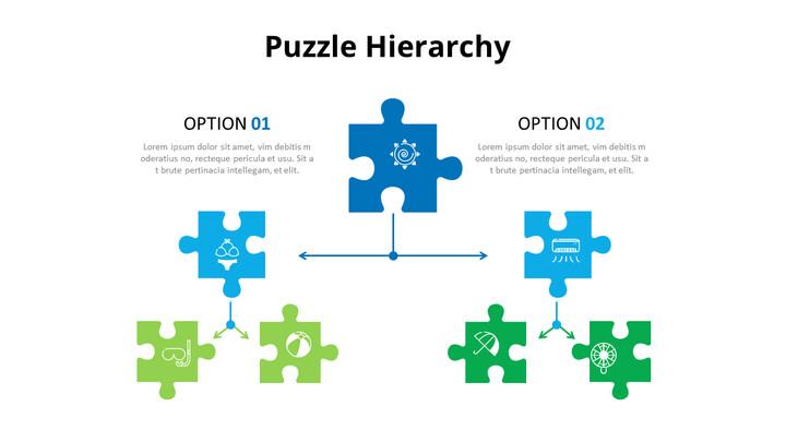 퍼즐 조각 인포 그래픽 다이어그램 애니메이션 슬라이드_01