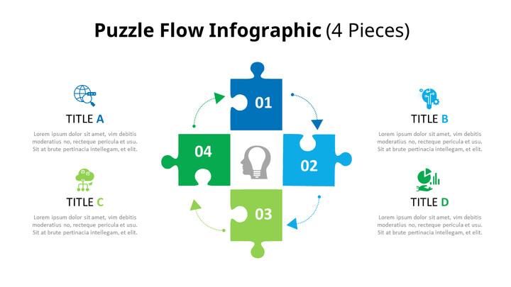 퍼즐 조각 인포 그래픽 다이어그램 애니메이션 슬라이드_02