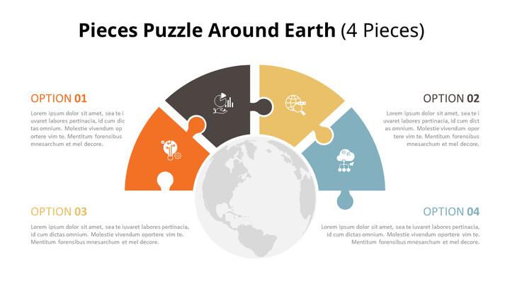 PowerPoint에서 반원 퍼즐 목록 다이어그램 애니메이션 슬라이드_01