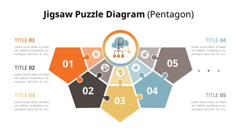 PowerPoint에서 반원 퍼즐 목록 다이어그램 애니메이션 슬라이드_03