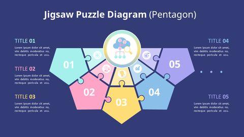 PowerPoint에서 반원 퍼즐 목록 다이어그램 애니메이션 슬라이드_06