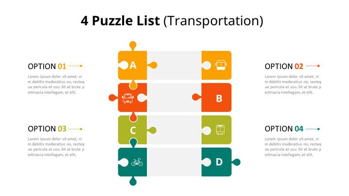 Vertical Puzzle List Diagram Animated Slides_01