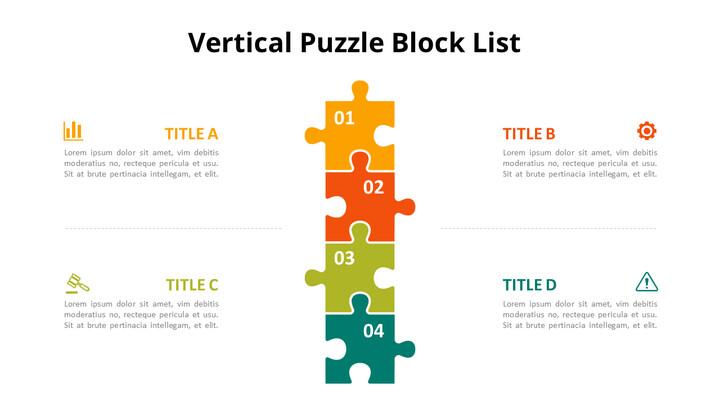 Vertical Puzzle List Diagram Animated Slides_02