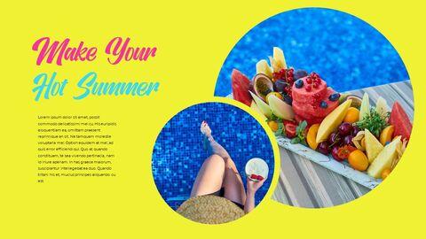 뜨거운 여름 파워포인트 테마_35