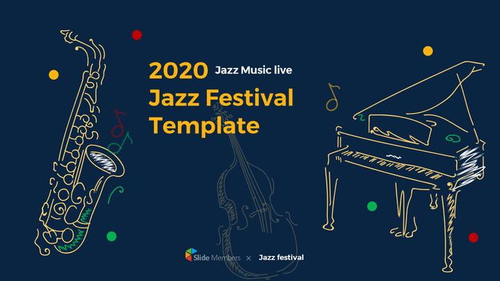 재즈 페스티벌 테마 PT 템플릿_01