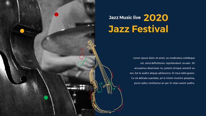 재즈 페스티벌 테마 PT 템플릿_02