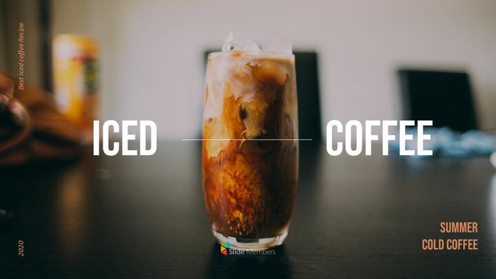아이스 커피 인터랙티브 파워포인트 예제_01